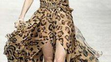 Leopar Desenli Bayan Elbise Modelleri